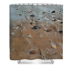 Pebbles Shower Curtain by Cherise Foster
