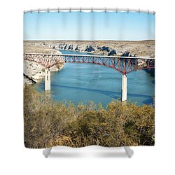 Shower Curtain featuring the photograph Pecos Bridge by Erika Weber