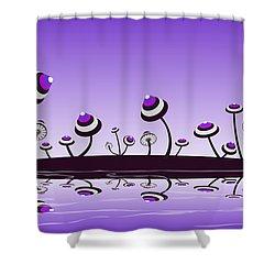 Peculiar Mushrooms Shower Curtain by Anastasiya Malakhova