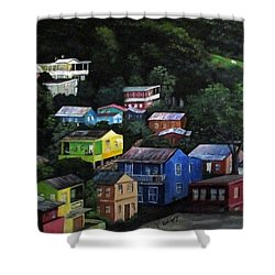 Pedazito De Yauco Cerro Shower Curtain