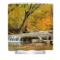 Shower Curtain featuring the photograph Pedelo Falls by Deena Stoddard