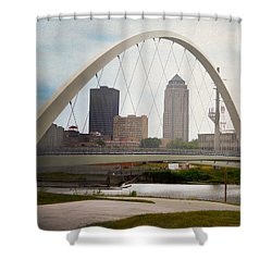 Pedestrian Bridge Shower Curtain