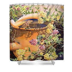 Peek-a-boo Shower Curtain by Deb  Harclerode