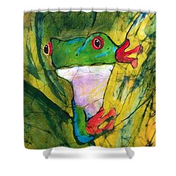 Peek-a-boo Frog Shower Curtain