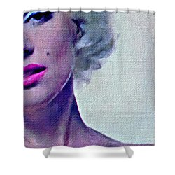 Peek A Boo Marilyn  Monroe Shower Curtain by Joan Reese