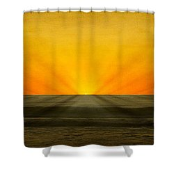 Peeking Over The Horizon Shower Curtain