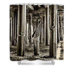 Peeking Under The Pier By Diana Sainz Shower Curtain