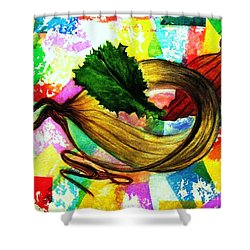 Peeling Back The Layers Shower Curtain by Hazel Holland