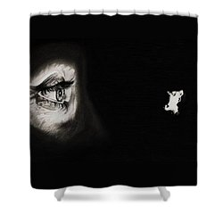 Peeping Tom - Psycho Shower Curtain by Fred Larucci