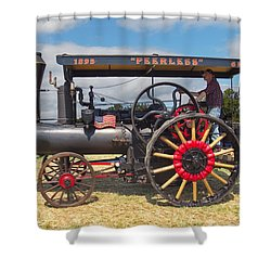 Peerless Steam Traction Engine Shower Curtain