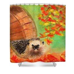 Peevish Porcupine Shower Curtain