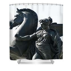 Shower Curtain featuring the photograph Pegasus by Christopher Woods
