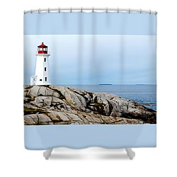 Peggy's Cove Light II Shower Curtain by Dan Dooley