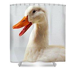 Pekin Ducks 1 Shower Curtain by Lanjee Chee