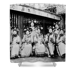 Shower Curtain featuring the photograph Peking Palace Women by Granger