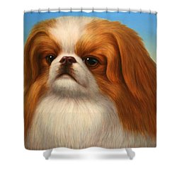 Pekingese Shower Curtain by James W Johnson