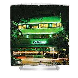 Pelican Hotel Film Image Shower Curtain