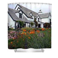 Pelican Inn Garden Shower Curtain by Richard Reeve