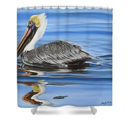 Pelican Ripples Shower Curtain
