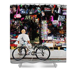 Shower Curtain featuring the photograph Pell St. Chinatown  Nyc by Joan Reese