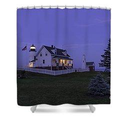 Pemaquid Point Light - Blue Hour Shower Curtain