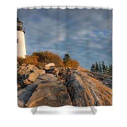 Pemaquid Point Light Vi Shower Curtain by Clarence Holmes