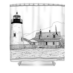 Pemaquid Point Lighthouse Shower Curtain by Ira Shander