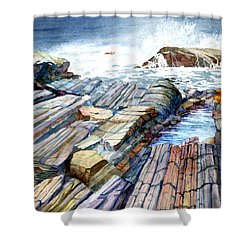 Pemaquid Rocks Shower Curtain