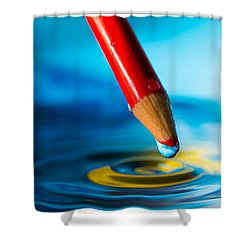 Pencil Water Drop Shower Curtain