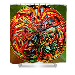 Pencil Tree Ball Shower Curtain