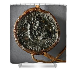 Pendent Wax Seal Of The Council Of Calahorra Shower Curtain by RicardMN Photography