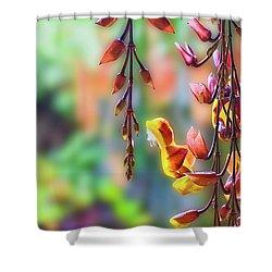 Pending Flowers Shower Curtain
