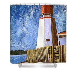 Pendlebury Lighthouse Shower Curtain