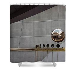 Shower Curtain featuring the photograph Pendulum Sculpture by Patricia Babbitt