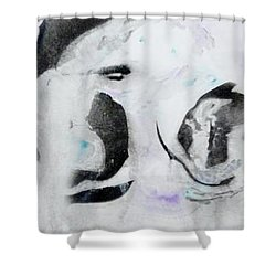 Shower Curtain featuring the painting Penguin by Mike Breau