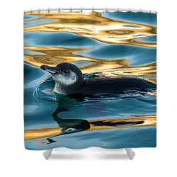 Penguin Watercolor 2 Shower Curtain