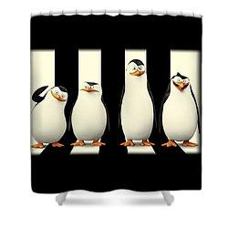 Penguins Of Madagascar Shower Curtain