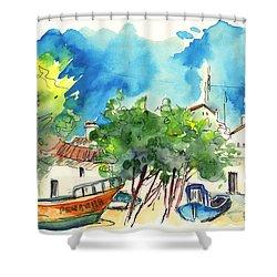 Peniche In Portugal 08 Shower Curtain by Miki De Goodaboom