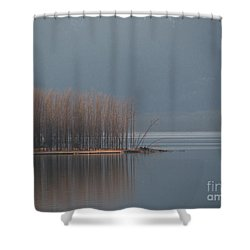 Peninsula Of Trees Shower Curtain