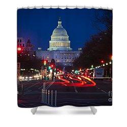 Pennsylvania Avenue Shower Curtain by Inge Johnsson