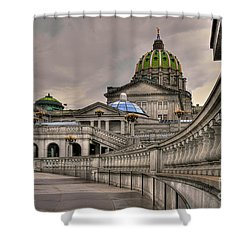 Pennsylvania State Capital Shower Curtain by Lois Bryan