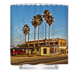 Penny Bar Mckittrick California Shower Curtain