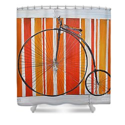 Penny-farthing Shower Curtain