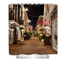 Penny Lane At Night - Rehoboth Beach Delaware Shower Curtain