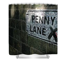 Penny Lane Shower Curtain by Jonah  Anderson