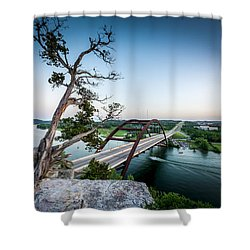 Pennybacker Bridge Austin Shower Curtain