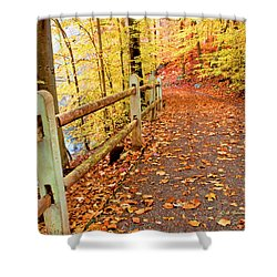 Pennypack Trail Philadelphia Fall Shower Curtain