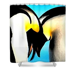 Penquin Love Dance Shower Curtain by Colette V Hera  Guggenheim