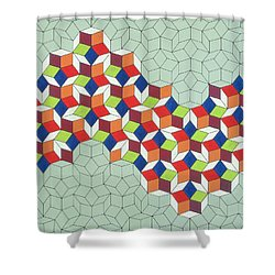 Penrose's Conundrum Shower Curtain by Peter Hugo McClure