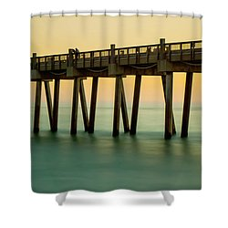 Pensacola Beach Fishing Pier Shower Curtain